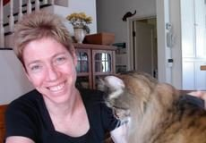 Dr. Margie Scherk with a feline friend