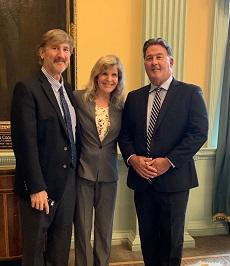 Senator Mark Montigny (r) and Paw Project Team